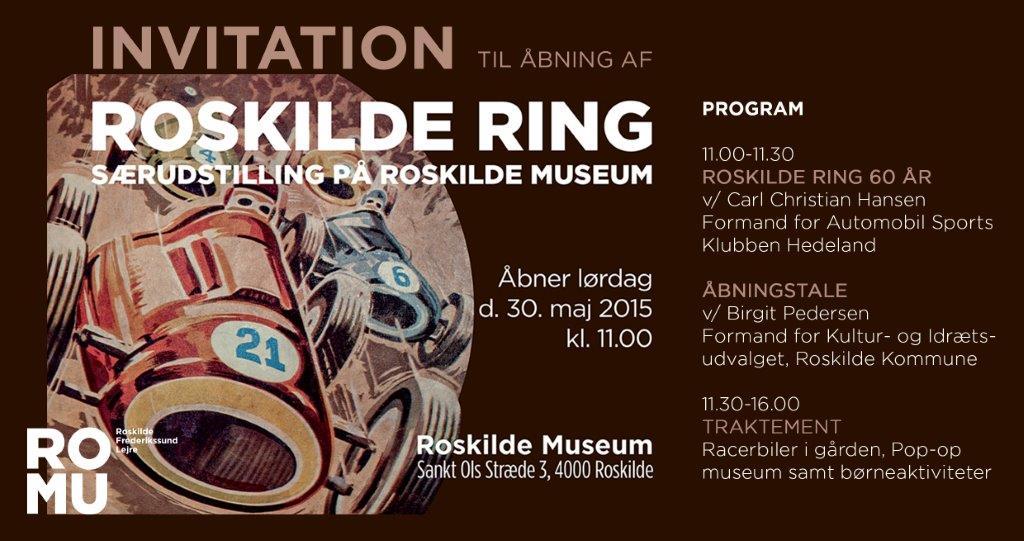 Invitation til udstillingsåbning Roskilde Ring
